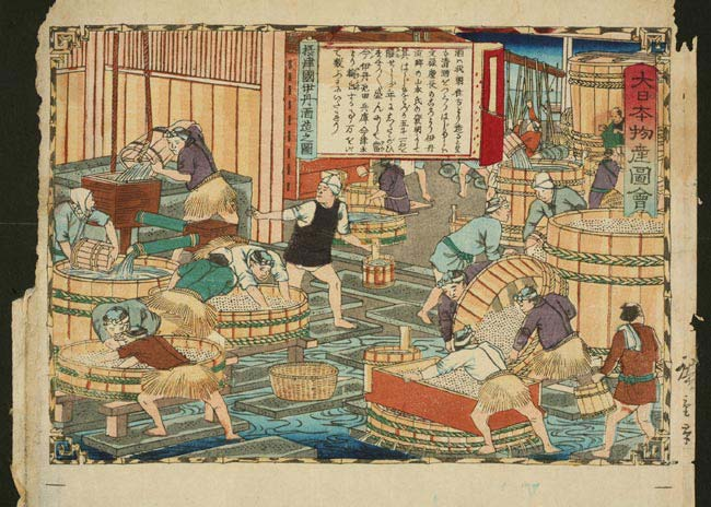 sake making in edo period