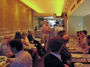 Rick at Dirt Candy sake dinner
